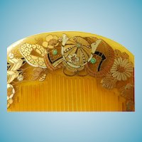 Japanese Kushi Comb Hair Ornament Meiji Period