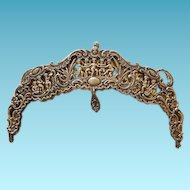 800 Silver Purse Frame Cupids 19th Century