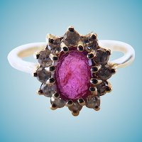 14 Karat Ruby & Diamond Ring