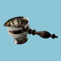 Sterling Silver Sauce Pot With Wooden Handle