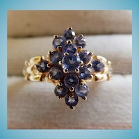 10K Yellow Gold Tanzanite Ring Size 8