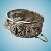Vintage Sterling Middle Eastern Bangle Bracelet