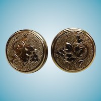 Victorian Gold Filled Earrings With 14K Gold Screw Backs