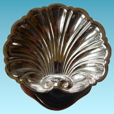 Vintage Sterling Silver Shell Condiment Dish