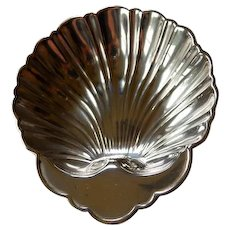 Vintage Sterling Silver Shell Shaped Condiment Dish