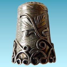 Eagle Mark Sterling Mexico Thimble