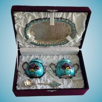 Korean .99 Silver Coffee Set With Presentation Box