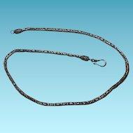 Vintage Byzantine Link Sterling Silver Necklace Choker Style