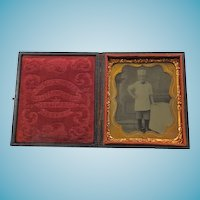 1/6 Plate Cased Occupational Tintype  - Boy Chef