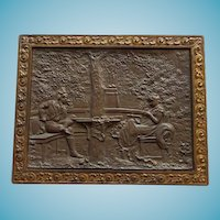 Bradley & Hubbard Bronze Plaque Colonial Revival Style