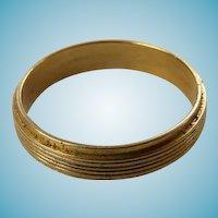 14 K Yellow Gold Man's Wedding Band Size 9 1/2