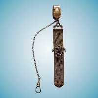 Victorian GF Watch Fob With Amethyst