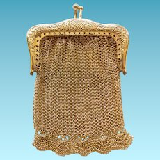 Doll Size Mesh Gold Tone Purse