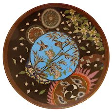 Japanese Cloisonne Charger Meiji Period