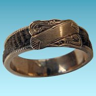 Victorian 10K YG Hair Ring With Box