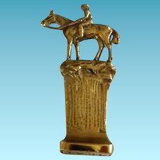Vintage Bronze Seal with Horse & Rider