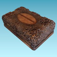 19thC Black Forest Carved Wood Box