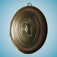 Vintage Gold Filled Oval Locket