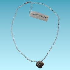 Vintage Judith Jack Sterling & Marcasite Necklace