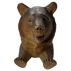 Antique Black Forest Bear Inkwell