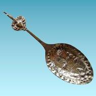 Unusual 800+ Silver Spoon Man & Lamb Rooster Spoon