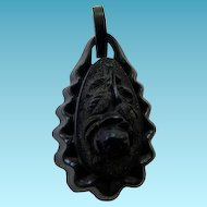 Antique Victorian Gutta Percha Pendant