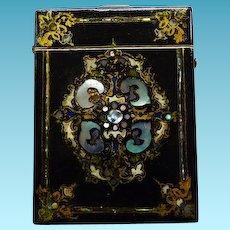 Antique Victorian Papier Mache Calling Card/Visiting Card Case
