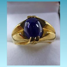 Vintage Gents 14K Star Sapphire Ring