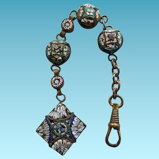 Victorian Micro Mosaic Watch Fob