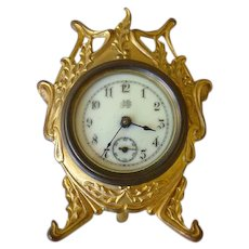 Adorable Jenning's Bros. Desk Clock 1894