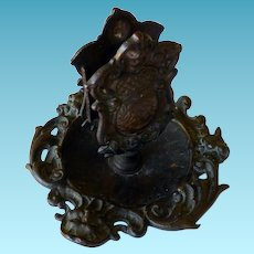 Victorian Bronze Match Holder Bernard New York Pat. 1890