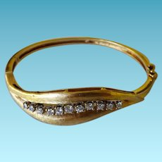 Stunning 14K & Diamond Bangle Bracelet