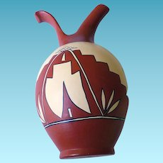Southwestern Native American Vase Signed Nickett