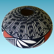 Acoma Pottery Seed Pot Signed DORA ANTONIO