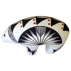 Acoma Pottery Bear Signed WS