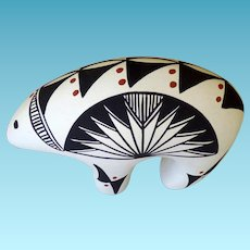 Acoma Pottery Bear Signed WS