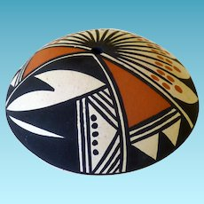 Acoma Pottery Seed Pot Signed Marcella Augustine