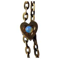 Victorian GF Ladies Watch Chain & Slide