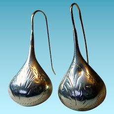 Southwestern Sterling Teardrop Earrings