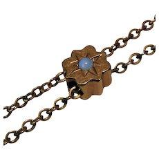 Victorian Ladies GF Watch Chain With Opal Slide