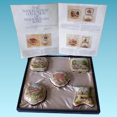 National Trust Collection of Five Porcelain Boxes  -  Boxed