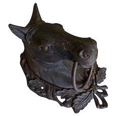 Antique Cast Iron Horse Head Door Knocker