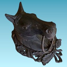 Antique Cast Iron Horse Head Door Knocker