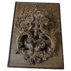 Antique Victorian Cast Iron Door Knocker