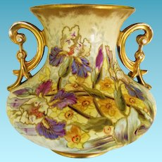 Antique Royal Bonn Two Handled Vase