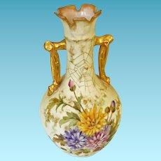 19th Century Teplitz Amphora Vase