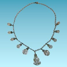 Vintage Sterling & Crystal Necklace