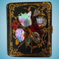 1/9TH Plate Photo Case Papier Mache With Tintype Circa 1850