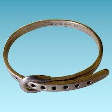 Taxco Sterling Buckle Bracelet