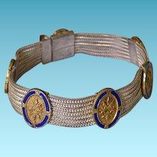Vintage Sterling & Enamel Turkish Bracelet